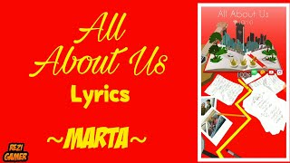 Marta - All About Us (Lyrics) ● Dancing Line