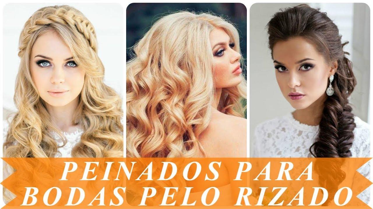 Modelos De Peinados De Novia Para Pelo Rizado 2018 Youtube