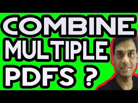 How To Combine Multiple PDFs Into One PDF File | Hindi | Helping abhi