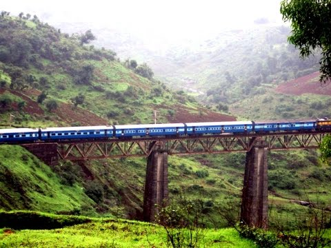 A Dangerous View of Kasara (Thul) Ghat by Jan-Shatabdi Express | Full Coverage | March 2014 [HD]