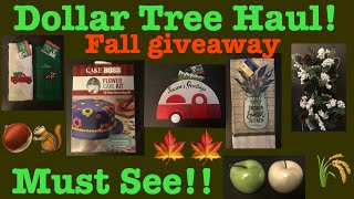 Dollar Tree Haul! Must See Items!!- October 20, 2019