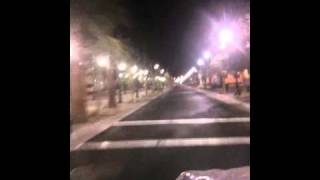 Downtown Lancaster California The Blvd at night...