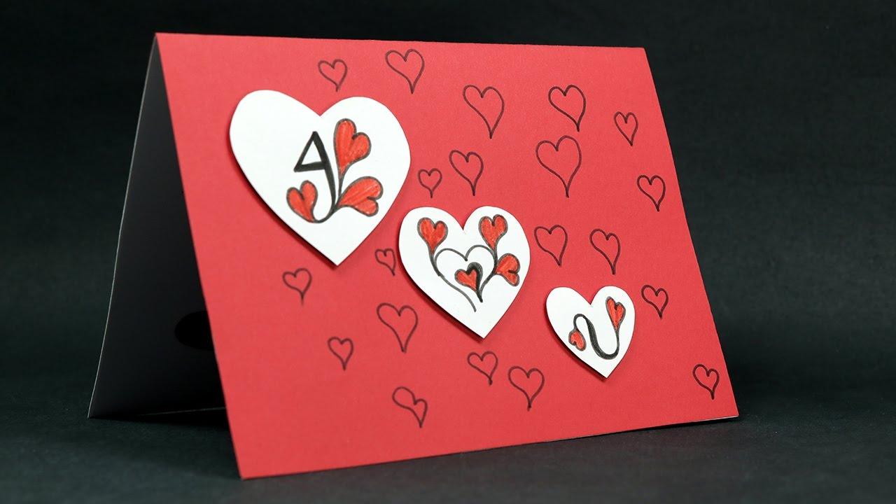 DIY Valentine Card  I Love You Pop Up Love Card Tutorial  YouTube