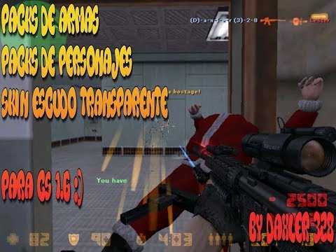 Como Descargar Packs de armas , personajes , para counter strike 1 6 1 Link mediafire - By Daxler328