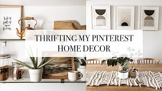 Thrifting My Pinterest   Home Decor   Come Thrift With Me
