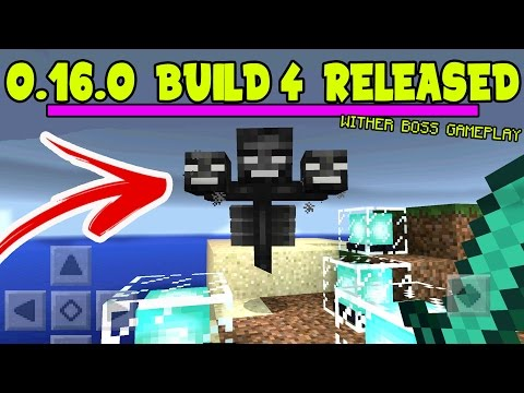 Minecraft PE 0.16.0 WITHER BOSS GAMEPLAY!!! // 0.16.0 ALPHA BUILD 4 RELEASED! Minecraft MCPE 0.16.0