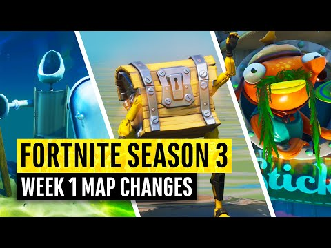 Fortnite | All Season 3 Map Updates And Hidden Secrets! WEEK 1