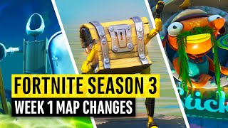 Fortnite | All Season 3 Map Updates and Hidden Secrets! WEEK 1