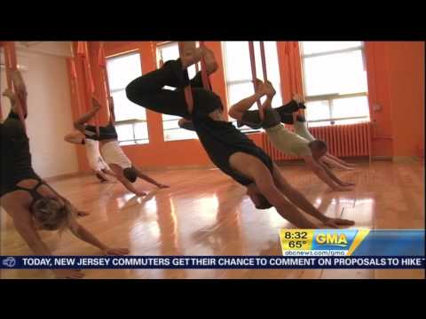 """AntiGravity® Aerial Yoga  - """"Cocooning"""" is featured on Good Morning America - August 2011"""