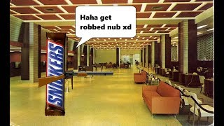 ROBBING THE WANTED BANK AS A SNICKERS BAR!!!