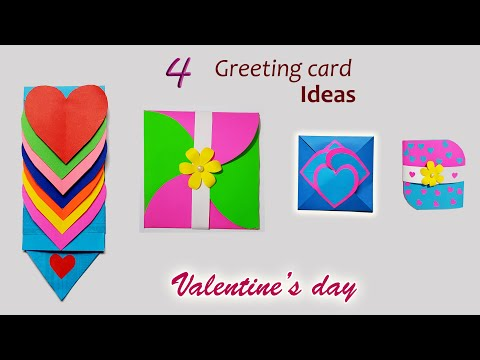 4 Valentines Day Secret Folding Greeting Cards || Valentines Day Cards