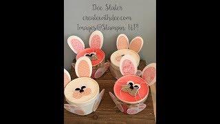 Sweet Cup Bunny Punch Art Die Art Treat Holder
