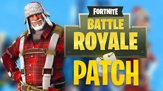 CHRISTMAS avec SNOWBALLS LAUNCHER-Patch c. 1.11-Fortnite Battle Royale News
