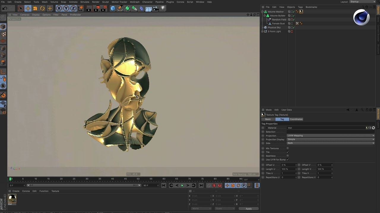 Tip - 239: How to turn a noise into a volume mesh in Cinema 4D