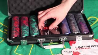 Обзор покерного набора Black Stars на 300 фишек