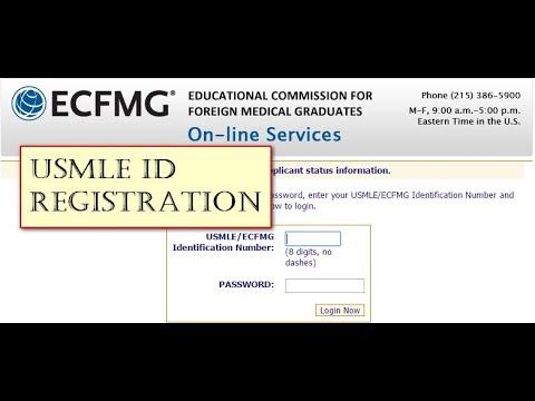 USMLE ID registration