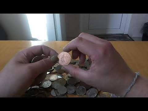 Один килограмм иностранных монет с аукциона Мешок