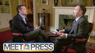 Sen. Ted Cruz On Presidential Bid (Full Interview) | Meet The Press | NBC News