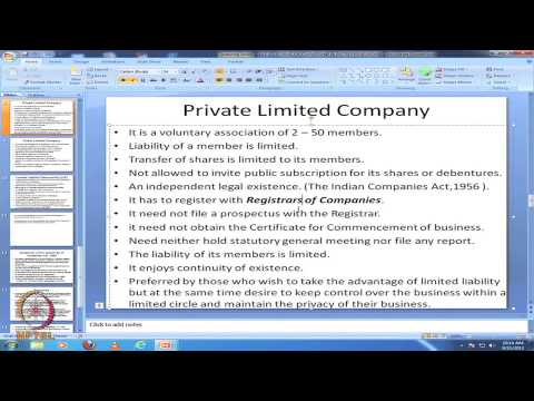 Mod-38 Lec-47 Forms of Ownership