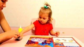 Занятия для детей от двух лет. Картинки из круп и семян. Ежик