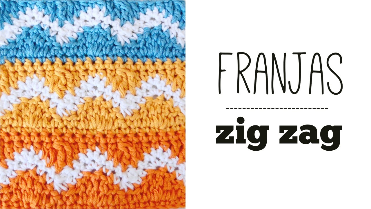 Crochet ZIG ZAG STRIPES stitch STEP BY STEP TUTORIAL ? Ahuyama ...