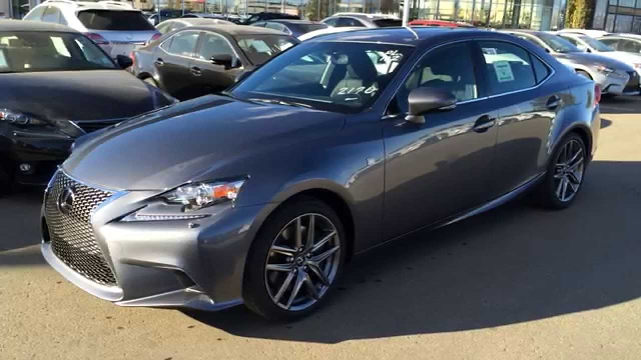 new grey on black 2015 lexus is 350 awd f sport series 3 review at lexus of edmonton youtube. Black Bedroom Furniture Sets. Home Design Ideas