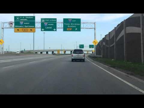 Anjou Interchange: Autoroute 25 northbound to Autoroute 40 eastbound