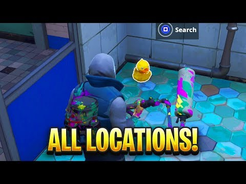 """Search Rubber Duckies"" ALL LOCATIONS In Fortnite"