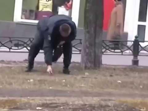 Пьяный мент  ПОЗОР!!! день полиции