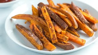 Easy Homemade Sweet Potato Fries Recipe - How to Make Baked Sweet Potato Fries