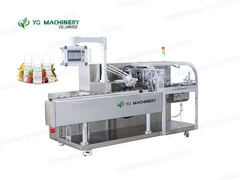 Bottle Cartoning Machine For 100ml Chubby Gorilla Carton Packaging Equipment