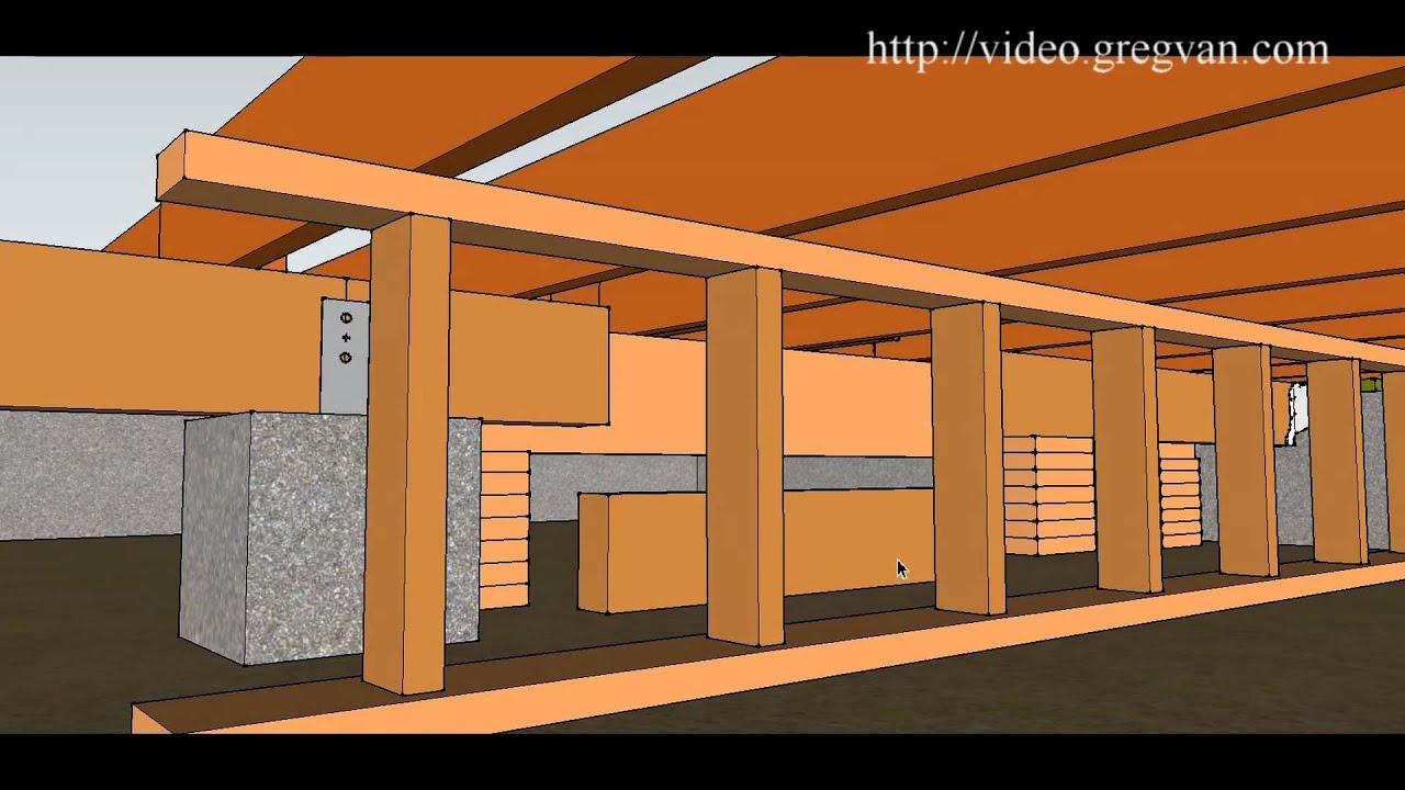 How To Remove Girder Beam Crawlspace Framing Repairs