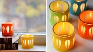 WOW !! Candle Stand Diwali/Christmas Home Decoration Ideas || Beautiful Candle Stand Decoration