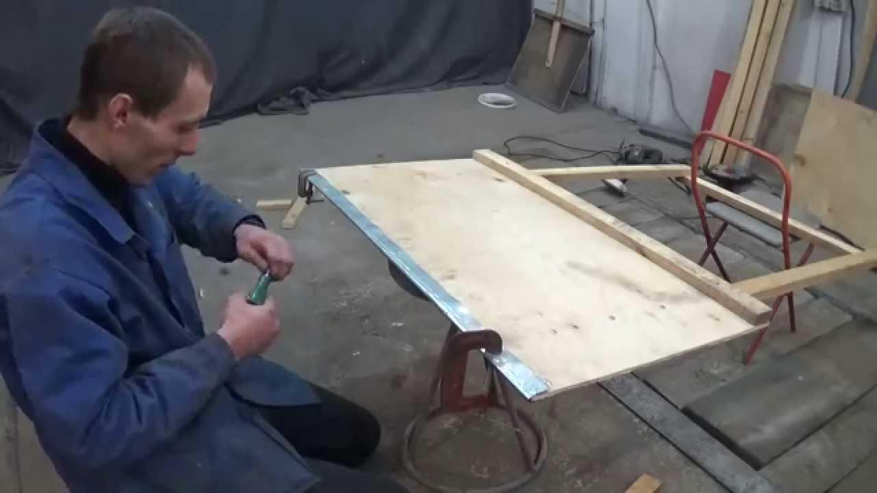 Большая лопата для уборки снега своими руками