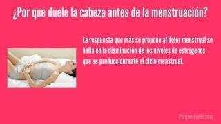 Cabeza de corporales período durante y dolor dolores el