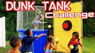 Screaming Ecstatic Kids | Dunk a Kid in the Tank | Boys vs Girls Challenge