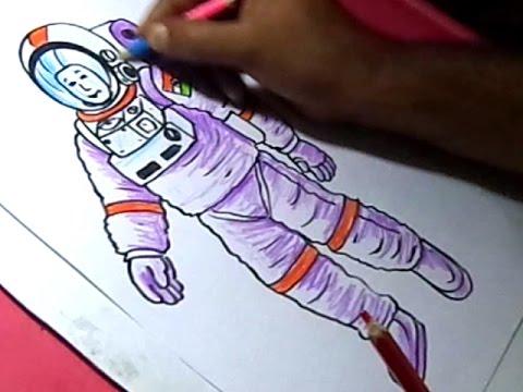 how to draw an astronaut doovi