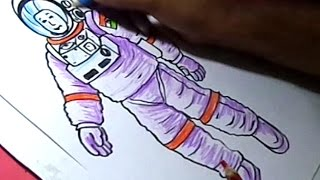 How to Draw NASA Astronaut Drawing for kids