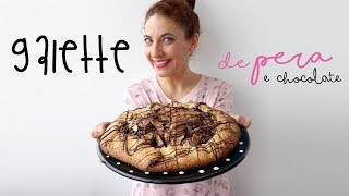 Uma galette (ou tarte dos preguiçosos) com a combinação clássica de...