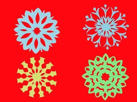 4 Amazing paper cutting design / DIY easy paper snowflakes ideas
