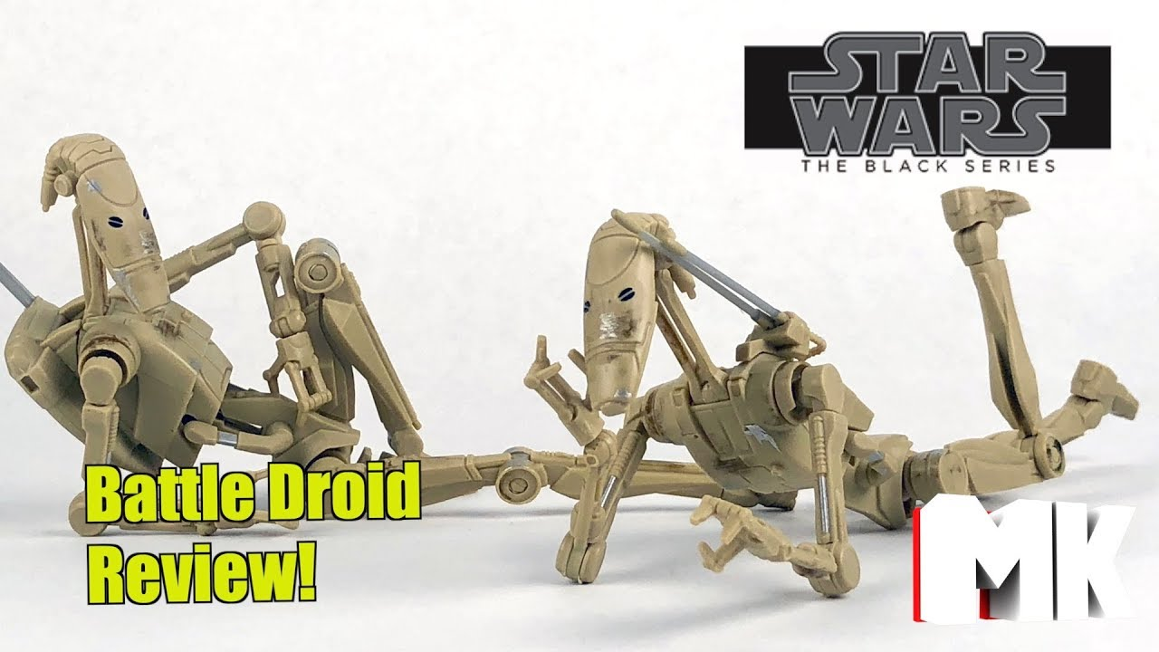 "Star Wars Black Series BATTLE DROID 6/"" Scale Action Figure Hasbro Clone Wars"