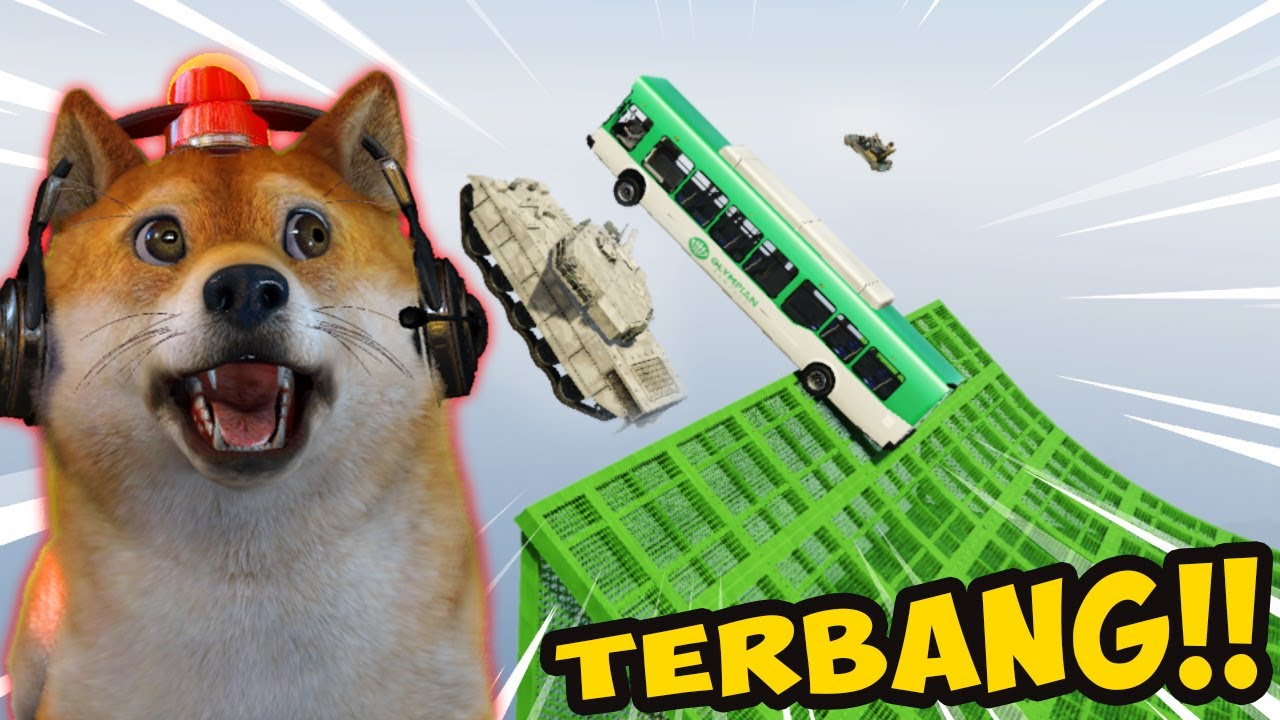 Download EXPERIMENT TERJUN BEBAS DENGAN BERBAGI JENIS MOBIL!!! - GTA 5 Mod Indonesia