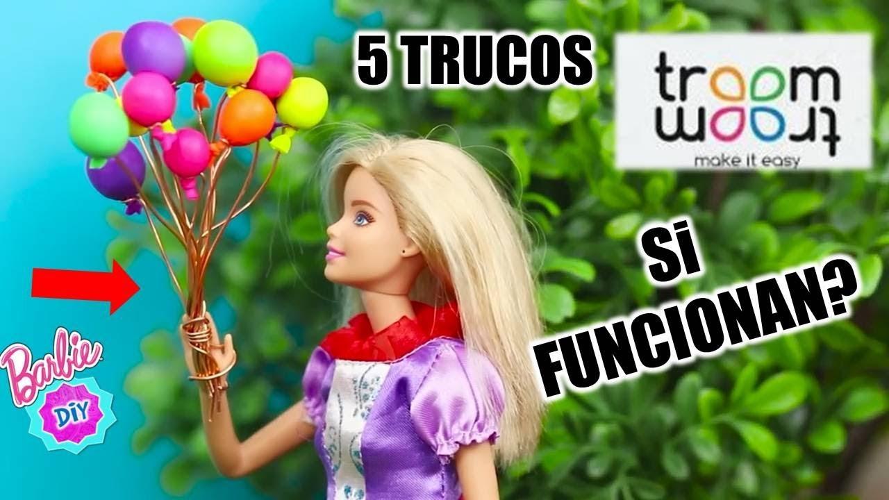 Probando 5 Ideas Fáciles De Troom Troom Para Muñecas Barbie Trucos Momentos Diyvertidolls Youtube