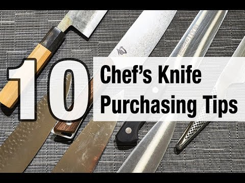10 Chef's Knife Purchasing Tips