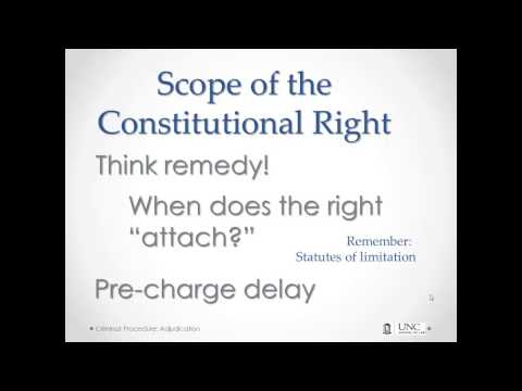 The Right(s) to a Speedy Trial