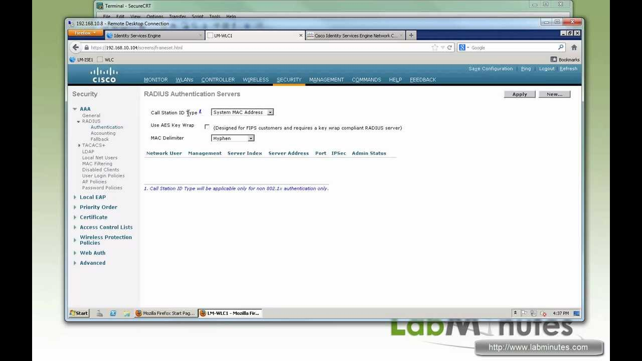 LabMinutes# SEC0039 - Cisco ISE 1 1 802 1X Switch and WLC Recommended  Config (Part 2)