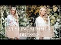 STYLING SUMMER DRESSES // Wedding Guest + Prom + Races Outfit Ideas!  // Fashion Mumbr