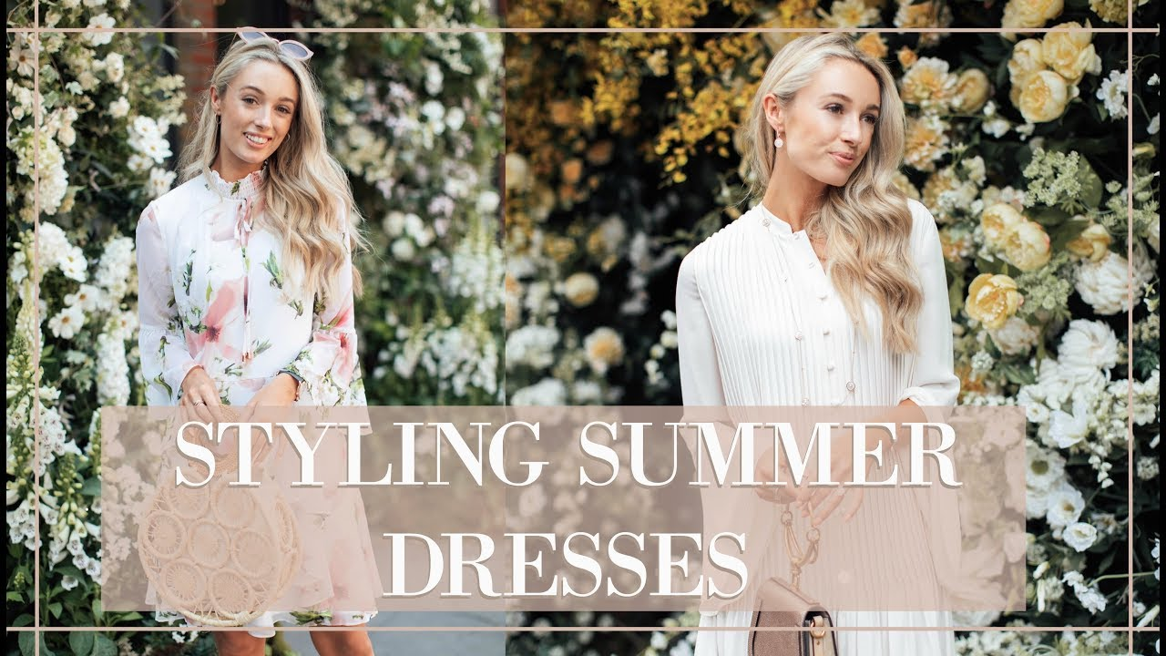 STYLING SUMMER DRESSES // Wedding Guest + Prom + Races
