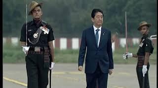 PM Modi receives Japanese PM Shinzo Abe