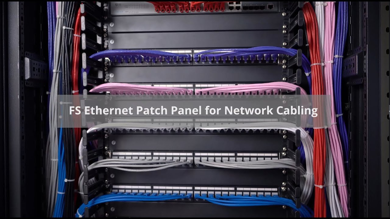 hight resolution of cat5e cat6 patch panel and blank ethernet patch panel fs com youtube rh youtube com cat6 patch panel wiring structured wiring cat6 patch panel